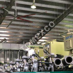 Sản phẩm quạt trần công nghiệp HVLS - 3700 của Tomexco
