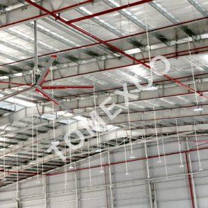 Sản phẩm quạt trần công nghiệp HVLS - 4500 của Tomexco