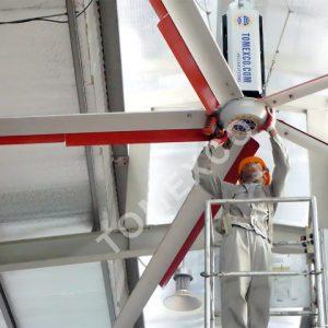 Sản phẩm quạt trần công nghiệp HVLS - 5300 của Tomexco
